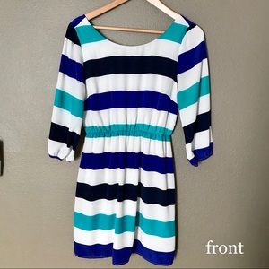 Fit and Flare Pool Striped Dress • Size M Juniors